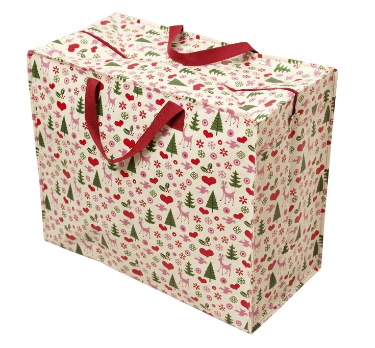 50's Christmas Recycled Jumbo Storage Bag   DotComGiftShop
