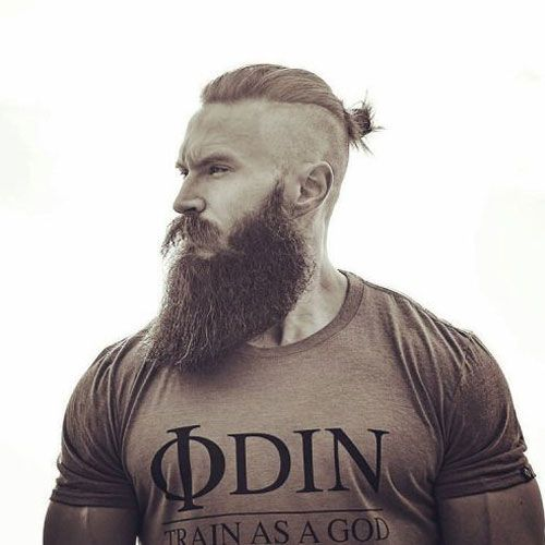 Beard Fade Styles - Shaved Sides with Thick Beard