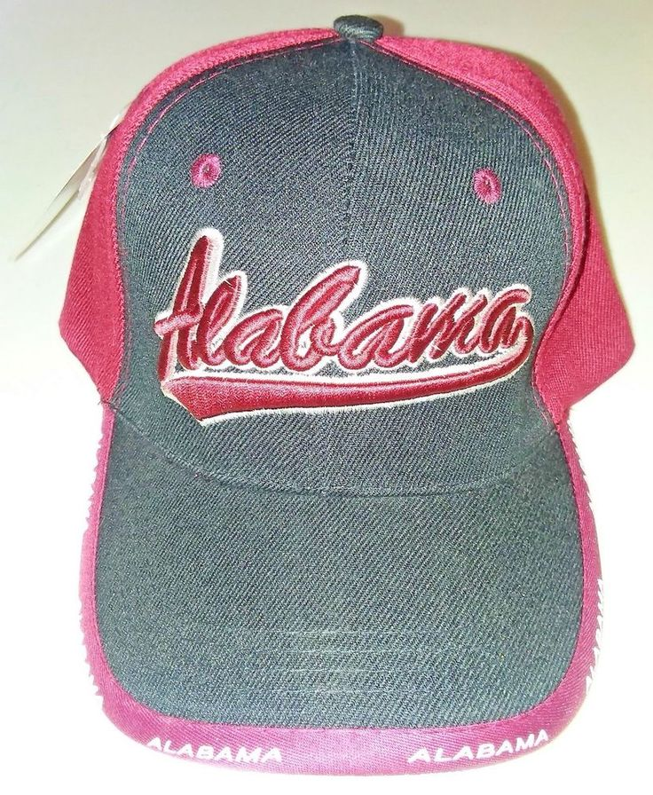 Alabama Hat Trucker Cap Black & Burgundy #TruckerHat