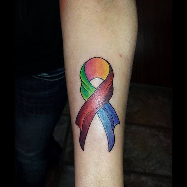 40 Supportive Cancer Ribbon Tattoo Designs - Not just for fun