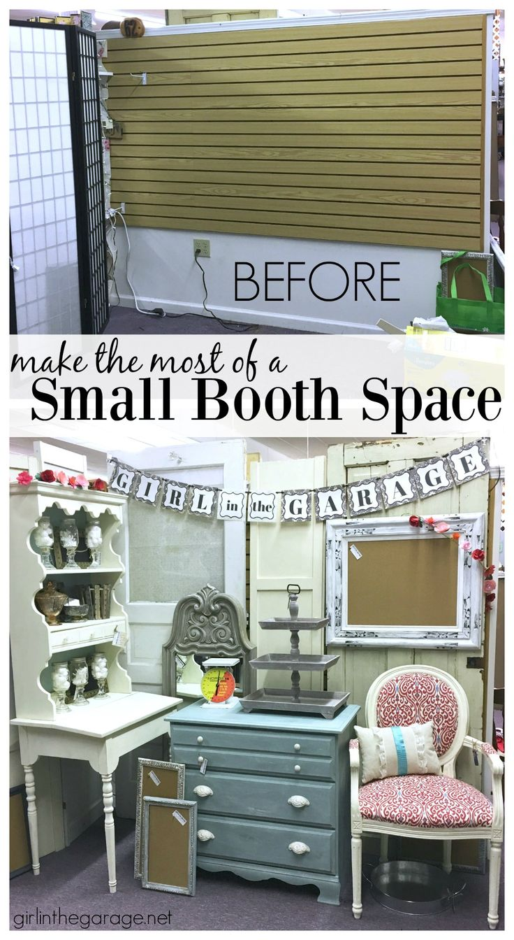 How to make a small antique booth space work - Girl in the Garage
