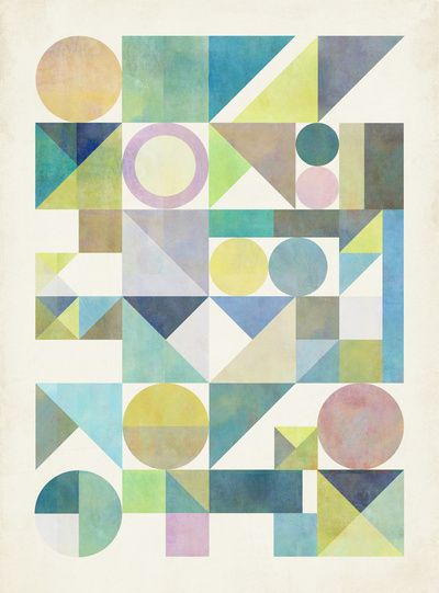 Nordic Combination 21 by Mareike Böhmer basic geometries, pastel colours, and the right angel !