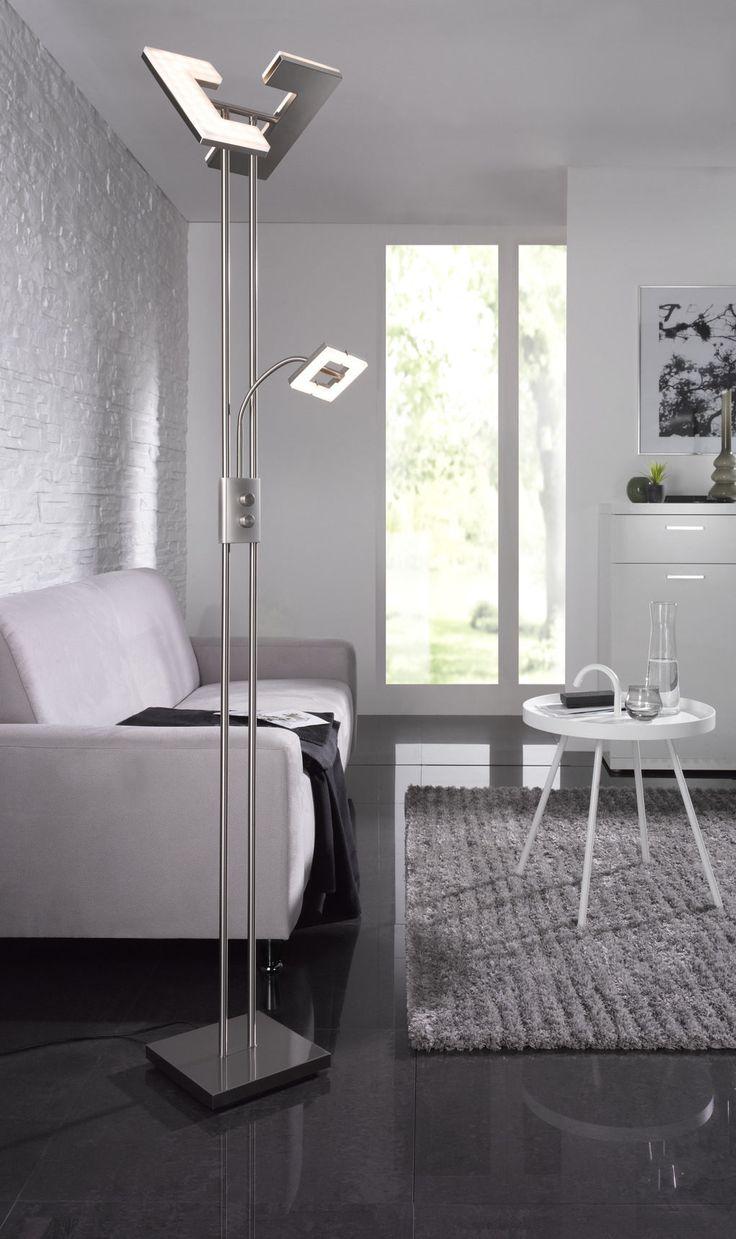 Praktischer Und Moderner LED Deckenfluter Fr Ihr Wohnzimmer Dieser Elegante Schmale Fluter Aus