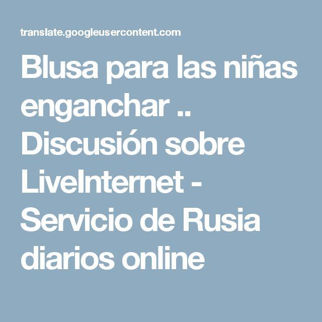 Blusa para las niñas enganchar .. Discusión sobre LiveInternet - Servicio de Rusia diarios online