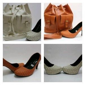 Paket tas serut saku + heels buaya - AyeshaShop.Com