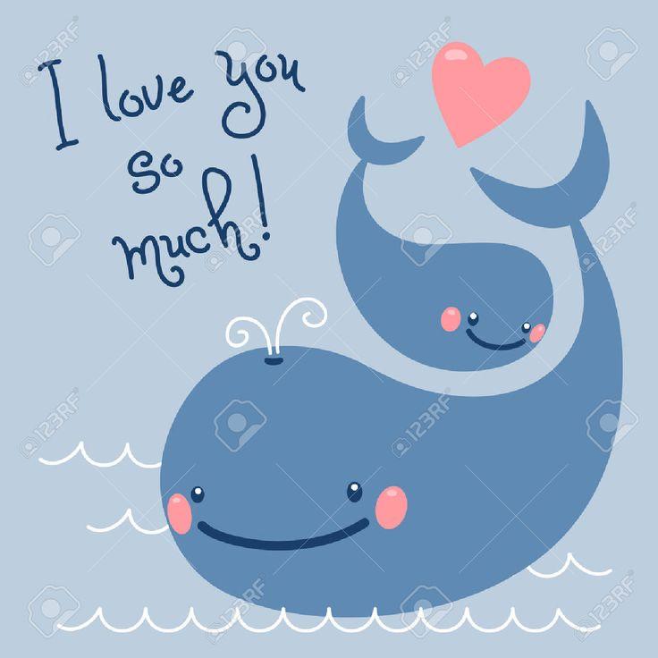 Счастливый День отца Карточку с милой китов Клипарты, векторы, и Набор Иллюстраций Без Оплаты Отчислений. Image 29084078.