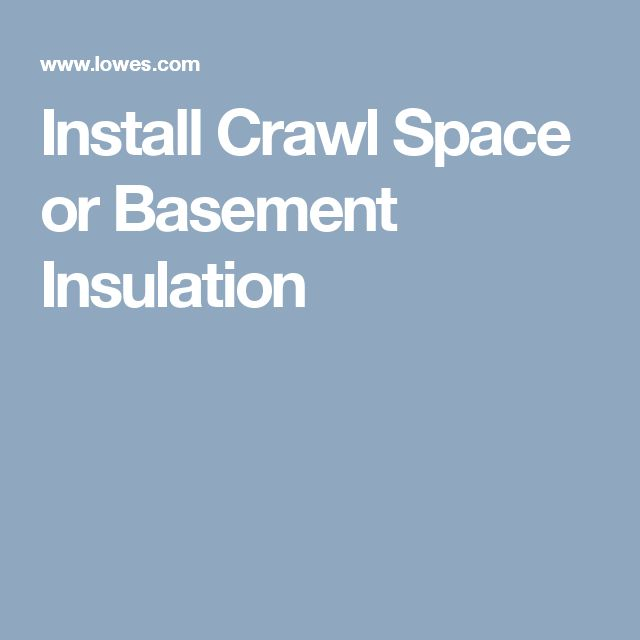 25 Best Ideas About Crawl Spaces On Pinterest