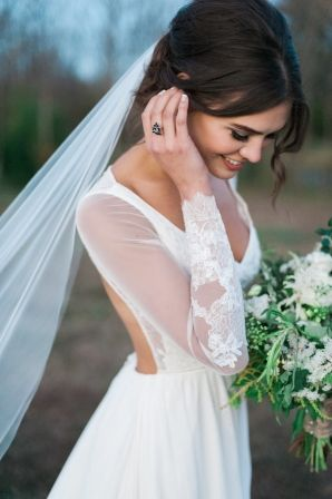 Wedding Dress with Sleeves | photography by http://www.jennymccann.com