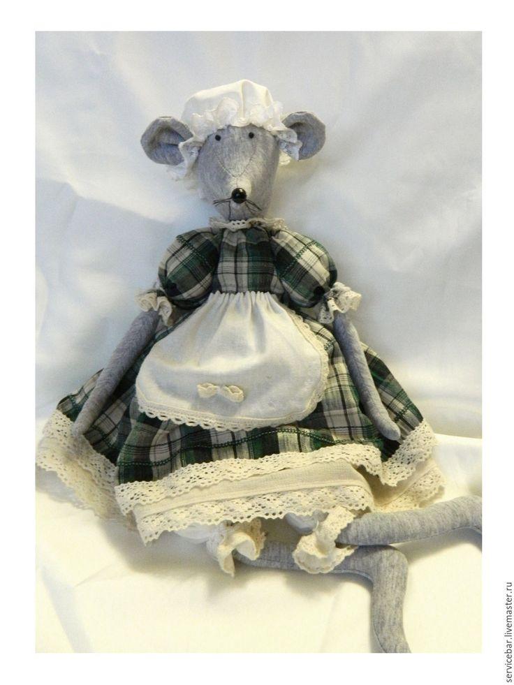 Купить Игрушка текстильная Мышь - мышь, мышка, мышонок, мышь игрушка, игрушка ручной работы, подарок, игрушка текстильная.