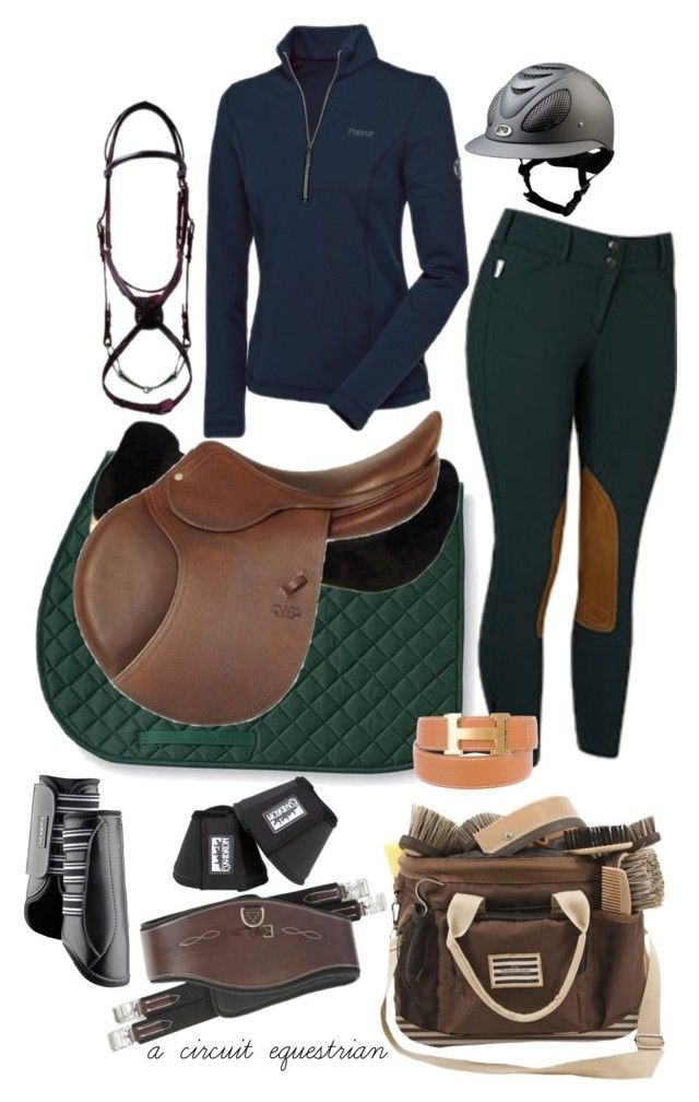 """""""forest green + navy :))"""" by a-circuit-equestrian on Polyvore featuring Hermès"""