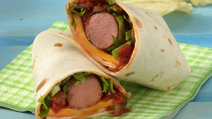 Grilled Salsa Hot Dog Wraps | Wrap hot dogs in tortillas with taco fixin's, and you'll have a sassy meal in minutes.