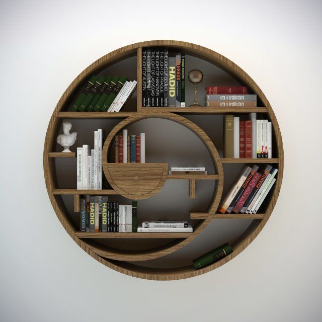 Circular Bookshelf 3d Model Bookshelves Diy Round Bookshelf