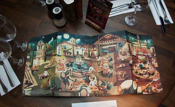 Zizzi Menu Illustration - Autumn/Winter on Behance
