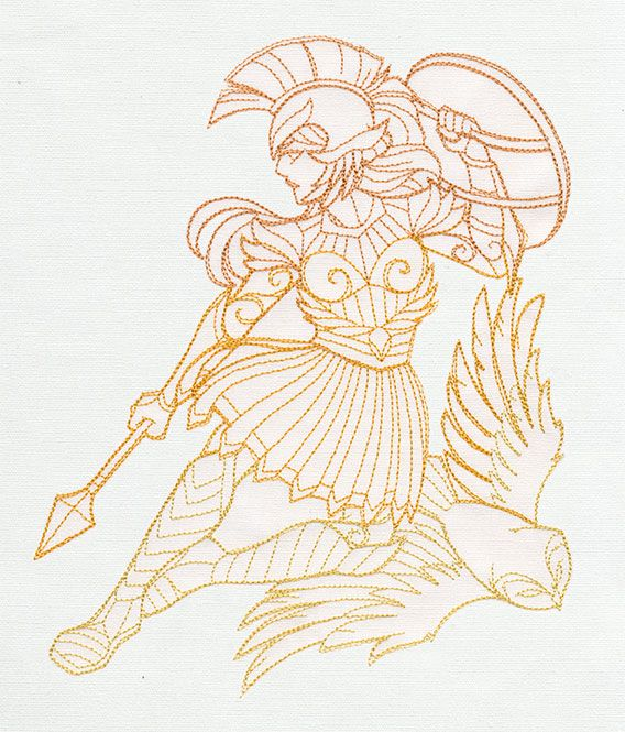 Greek Gods - Athena | Urban Threads: Unique and Awesome Embroidery Designs