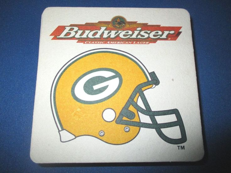 Vintage Budweiser Coasters Packers 1997 Schedule. 10 Pieces.