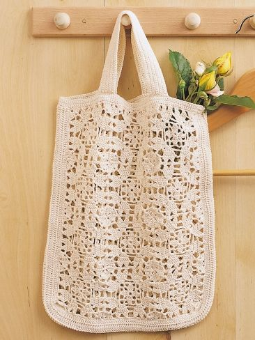 Tote Bag | Yarn | Free Knitting Patterns | Crochet Patterns | Yarnspirations