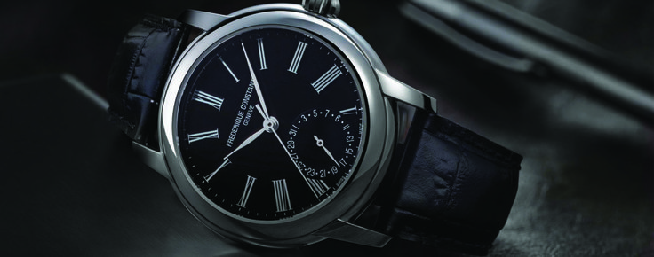 Introducing - Frederique Constant gives an elegant and refined face to the Classic Manufacture - Monochrome Watches