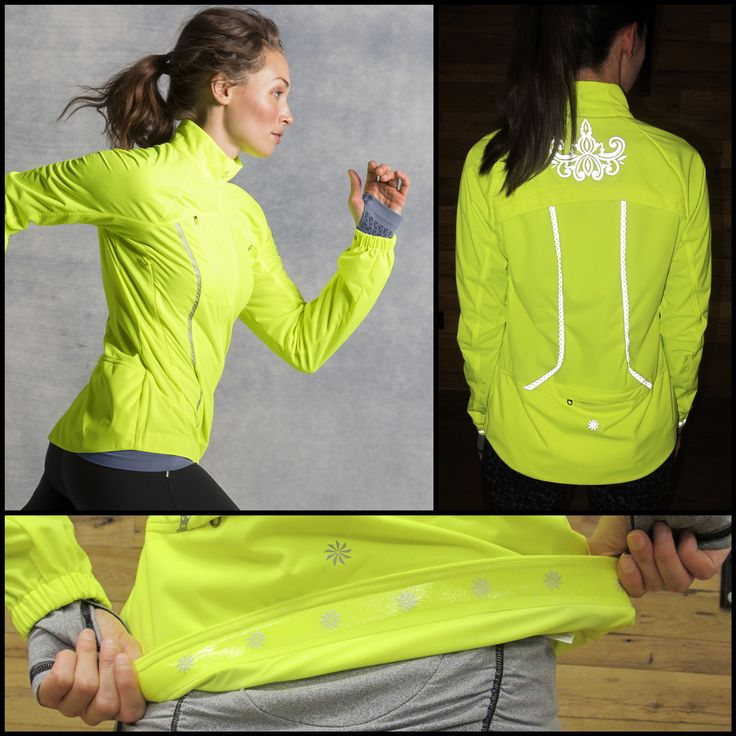 DIAL IN ON THE DETAILS » Run the realm: We called it the Queen of the Mountain Jacket because it's the sovereign ruler of the run jacket realm. It has bold colors and eye-catching reflective trim. It vents your sweat and keeps a grip on your backside with silicone hem trim. It rolls up in a nice little fanny pack so you don't have to tie it around your waist. Now that's something to idolize.   Athleta Winter Collection 2013