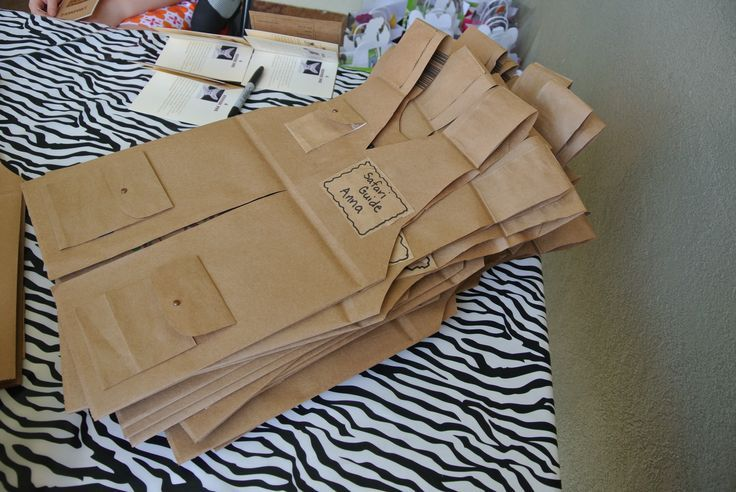 brown paper bag safari vest - Google Search
