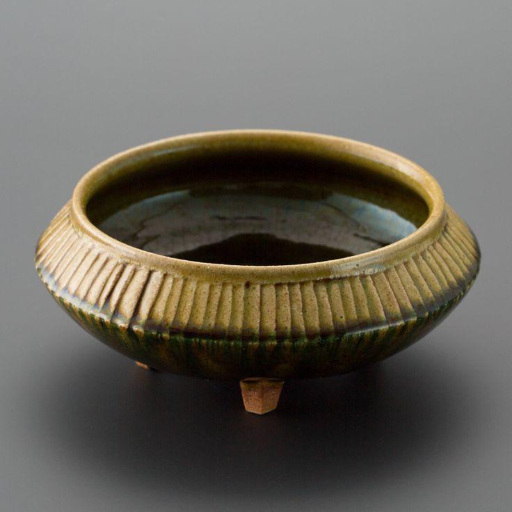 織部刻文足付鉢 Bowl with engraved, Oribe type2013