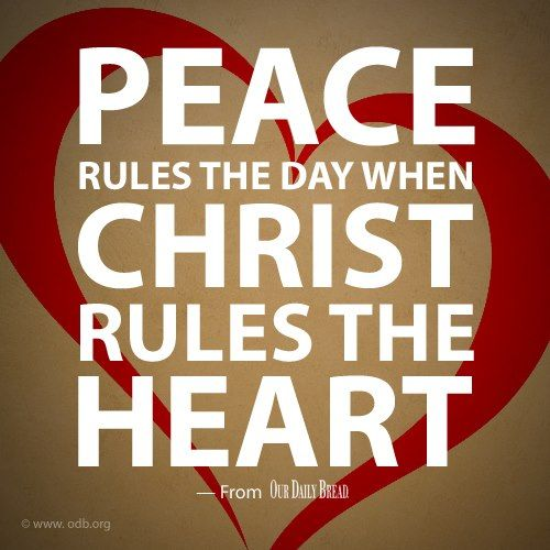 When Christ rules the heart