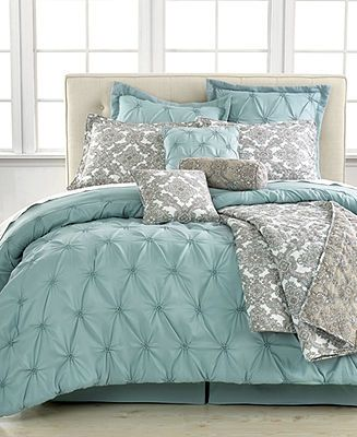 Jasmin Blue 10 Piece Comforter Sets - Bed in a Bag - Bed & Bath - Macy's