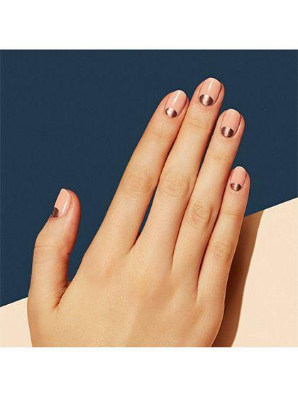 Wedding Nail Art: 23 Bridal Manicure Ideas - Rose-gold half-moons | allure.com