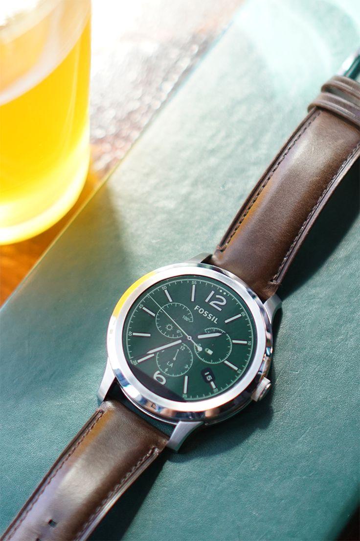 Gen 1 Smartwatch - Q Founder Brown Leather