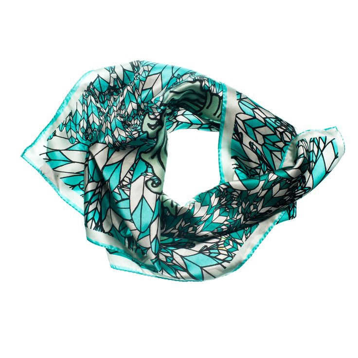 COMING SOONFeather Weight Silk Scarf INSPIRATIONThis print is an explosion of printed feathers. Vivid greens, turquoise blue and pastels are this bags statement colours. This is the perfect print to make a statement. You will love feeling the soft silk fabric against your skin. Screams luxury.  INFORMATIONFabric: Silk Satin fabricFinish: Rolled edgingSize: 70cmx70xmCUSTOMER TO PRE-ORDEREmail lisa@lisaryderdesigns.ieFOR WHOLESALE ORDE...