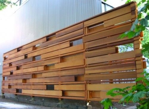 Unique privacy fence idea walls art pinterest the for Wood screen fence