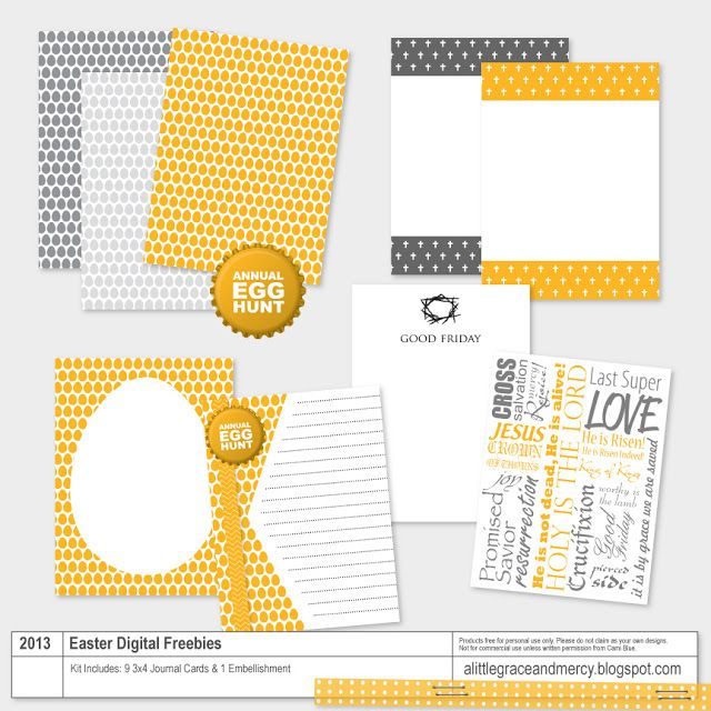 A Little Grace and Mercy: Project Life | Easter Digital Freebies Kit