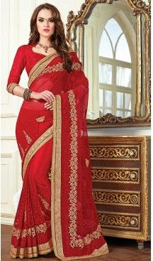 Red Color Net Traditional Saree Blouse | FH507577355 #ootd #ootn #giftforher #giftideas #asianWear #Asianwedding #asianattire #bollywoodjewellery #accessories #asianaccessories #saree #sari #indianSaree #traditionalsaree #traditionalsari #indianjewellery #necklaceSets #Bangles #asianWear #Asianwedding # #wedding #asianattire #bollywoodjewellery #accessories #asianaccessories #heenastyle #georgette #blouse #heenastyle @heenastyle