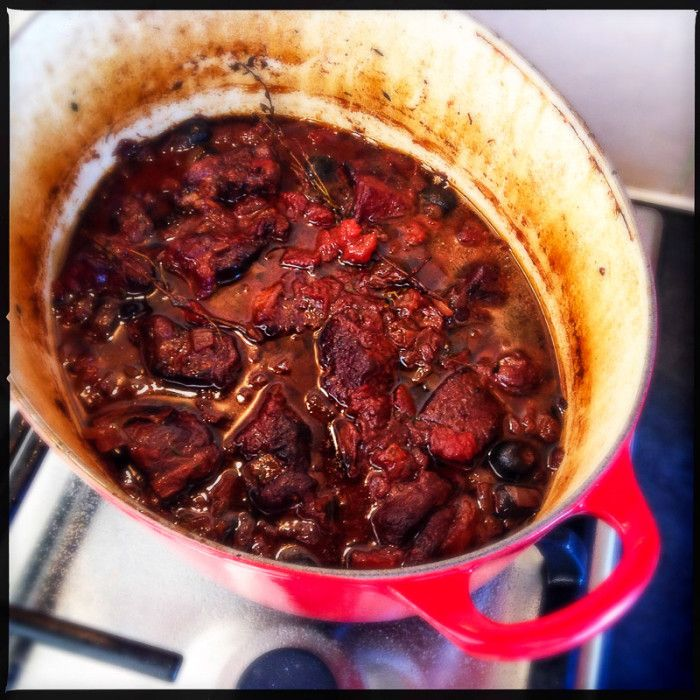 A stew to remember! Delicious stewed neck of lamb in thyme and red wine sauce - Gino D'Acampo