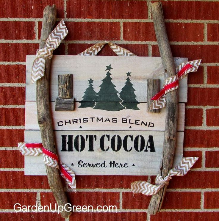 Christmas Blend Hot Cocoa Reclaimed Wood Sign - Merry Christmas!