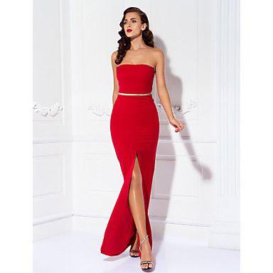 Prom/Military Ball/Formal Evening Dress Sheath/Column Strapless Floor-length Jersey Dress – GBP £ 41.39
