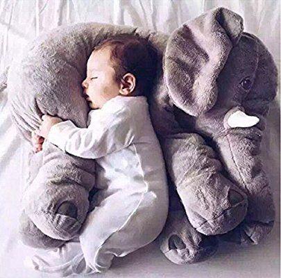 Amazon|YunNaSi 象ちゃん クッション リアル抱き枕 ふわふわ枕 赤ちゃんのぬいぐるみ 多機能ぬいぐるみ リアルクッション 面白いグッズ 抱き枕 60CM|抱き枕 オンライン通販
