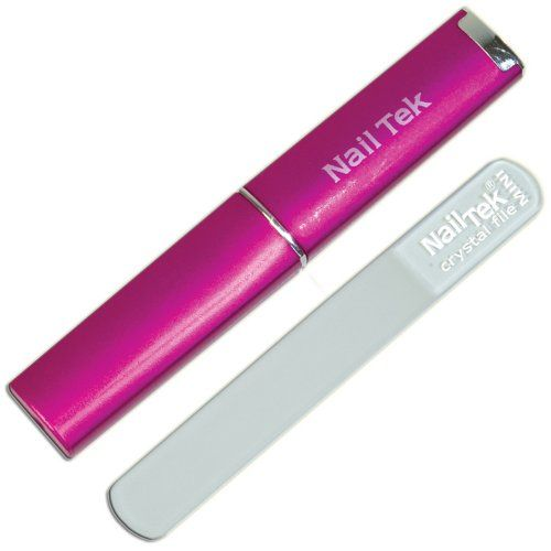 Nail Tek Mini Crystal File with Pink Case Nail Tek