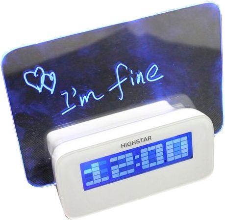 Светящийся LED-будильник «ДОСКА ДЛЯ ЗАПИСЕЙ»