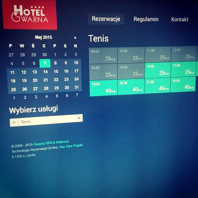 We've just launched our #tennis court #booking #system based on #MODX http://tenis.hotelgwarna.pl Finally! It' online :-)