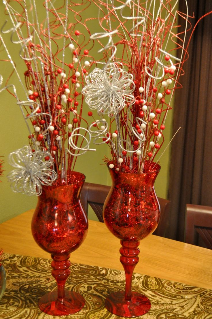Christmas Table Decoration {Glitter}