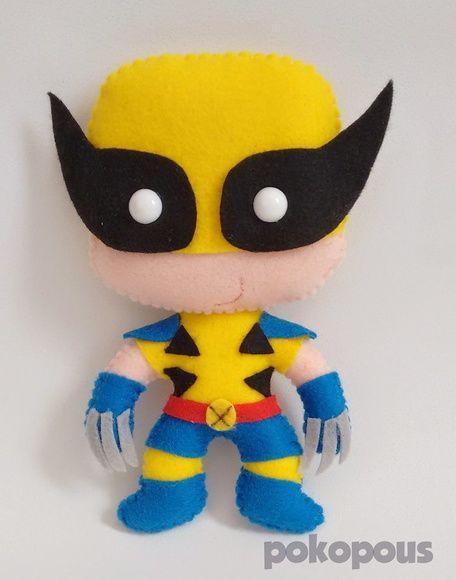 Bonecos Wolverine em feltro