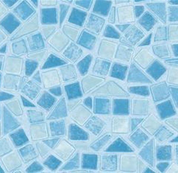 (2016-02) Blå trekanter, 49 kr. 0,45 x 2 m