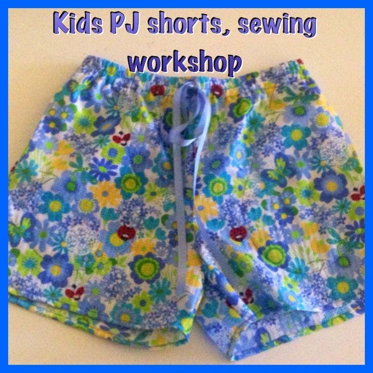 Fun Kids Two Day Sewing workshop on The Gold Coast. Great for Kids 7 and up even if they have never sewn before. The will sew these cute PJ Shorts with pockets and elastic waist with ribbon. http://mysewingclub.com/kids-sewing-classes-gold-coast/