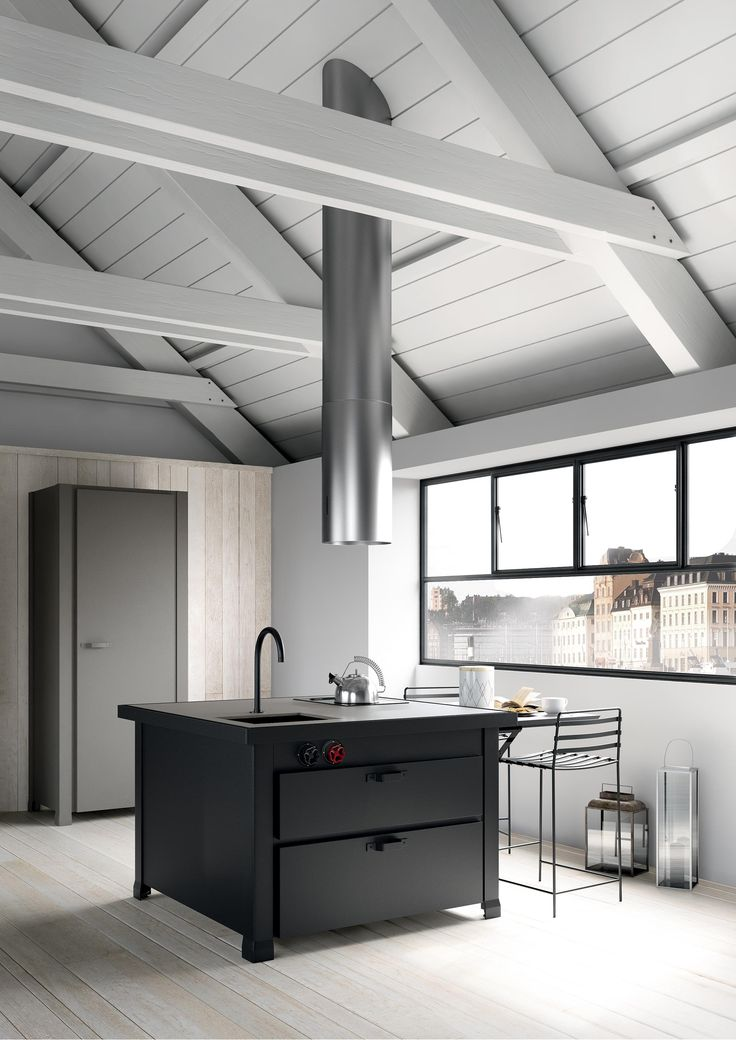 #stockholm #interiors #kitchen #vintage #design #black&white #nordic