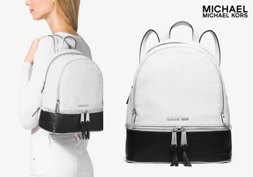 Δερμάτινο σακίδιο πλάτης Michael Kors σε ασπρόμαυρο σχέδιο, από 390,00€ Μόνο 179,00€