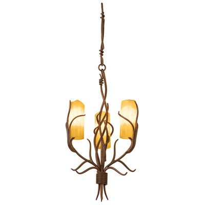 Kalco 4755GW/SUNSET Chandeliers Napa 3 Light Chandelier