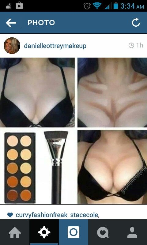 Cleavage contouring and highlighting
