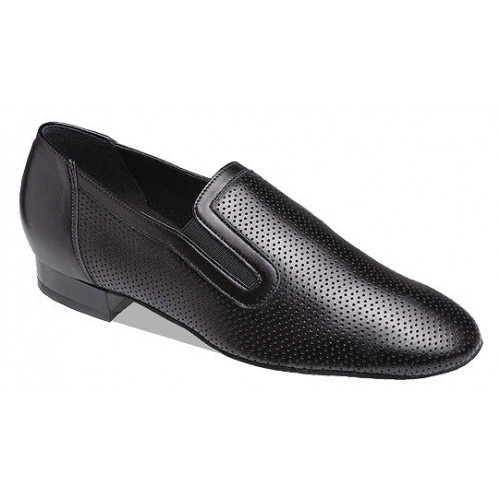 Supadance 6800, black perforated leather  Slip-on practice shoe in Black Perforated Leather. Suitable for practice and social use. Regular and Wide fittings. New Impact Absorbing Low Heel.   Price: 104.60€