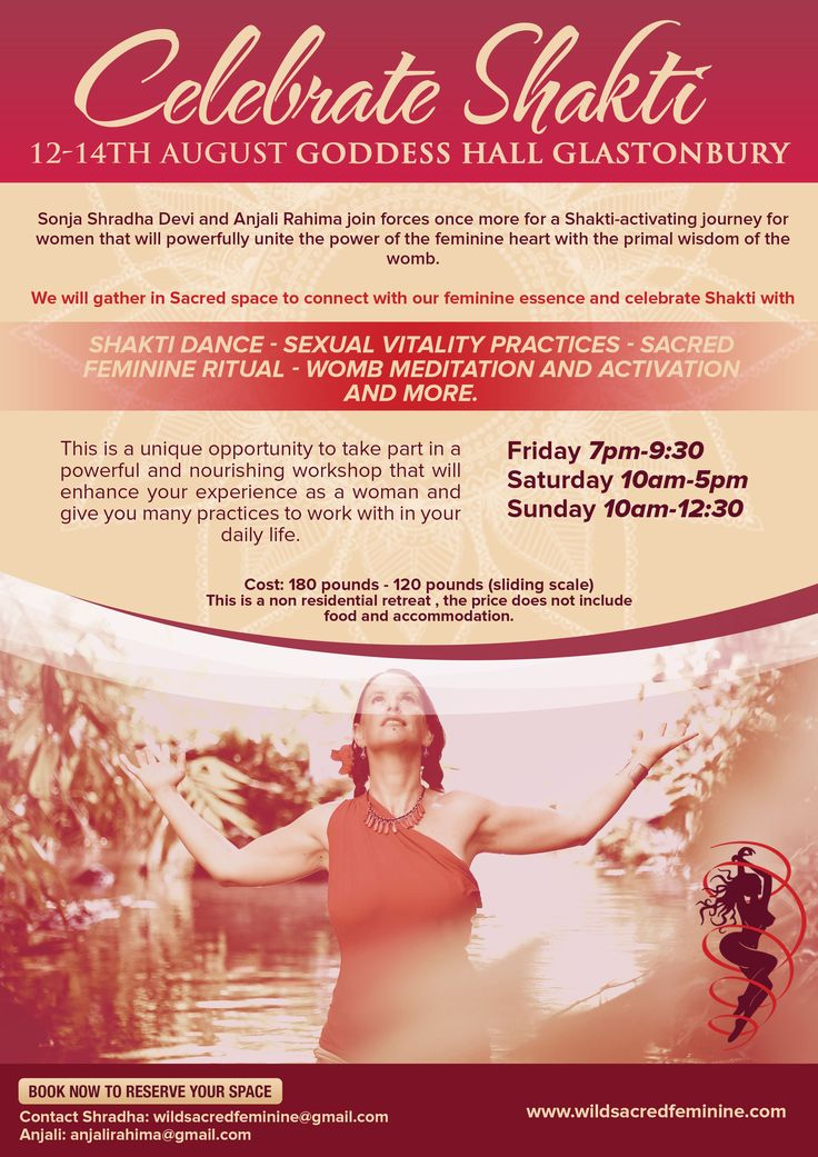 10 minutes ago  Join us as we Celebrate Shakti this coming 12-14th of August Goddess Hall Glastonbury