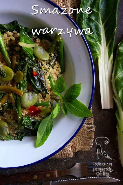 Kulinarne przygody Gatity: Quinoa i smażone zielone warzywa